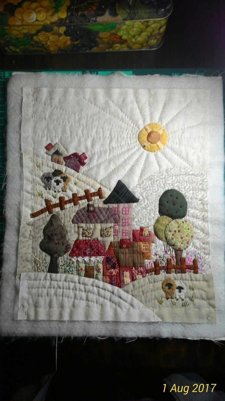 Quilted by me. I've followed the Japanese Quilting method