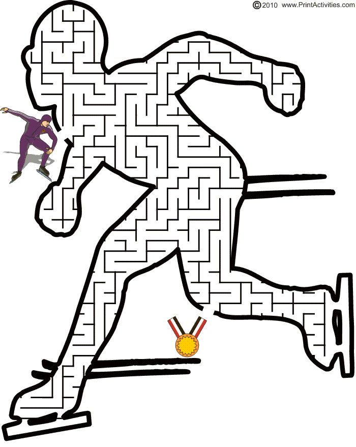 Speed Skater Maze: Guide the speed skater to the gold medal.