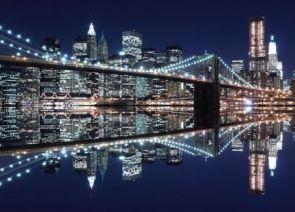 DecoArt24.pl New York (Brooklyn Bridge night) - fototapeta - Miasta - ARCHITEKTURA - FOTOTAPETY 169,00 PLN