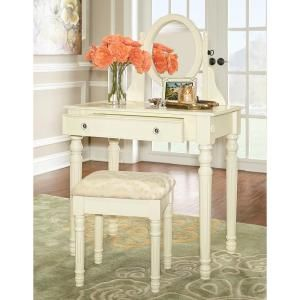 Home Decorators Collection Lorraine Bedroom Vanity Set in White-58010WHT-01-KD-U - The Home Depot