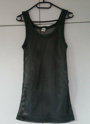 Kup mój przedmiot na #vintedpl http://www.vinted.pl/damska-odziez/koszulki-na-ramiaczkach-koszulki-bez-rekawow/17066275-tank-top-siatka-nowy-grunge-style-khaki-military