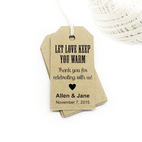 Let Love Keep You Warm Custom Tags ~ Hot Chocolate Favor ~ Printable Custom Favor Tags ~ Gift Tags ~ Wedding Tags