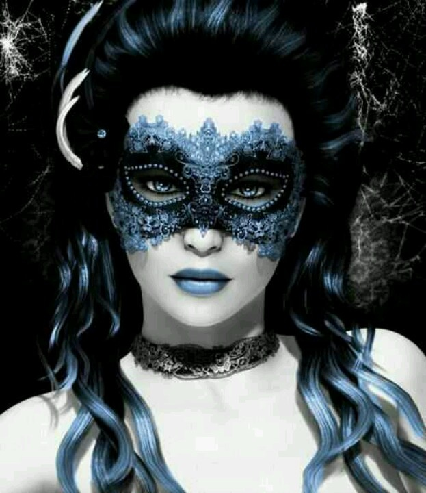 Masquerade masked fantasy woman. #masks #venetianmasks #masquerade http://www.pinterest.com/TheHitman14/art-venetian-masks-%2B/