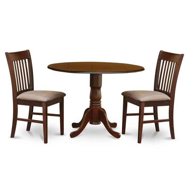 3 Piece Kitchen Round Wooden Dining Set