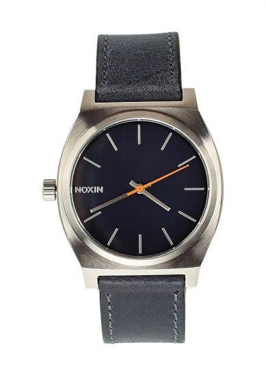 Классические наручные часы TIME TELLER от Nixon в круглом корпусе из нержавеющей стали на кожаном...