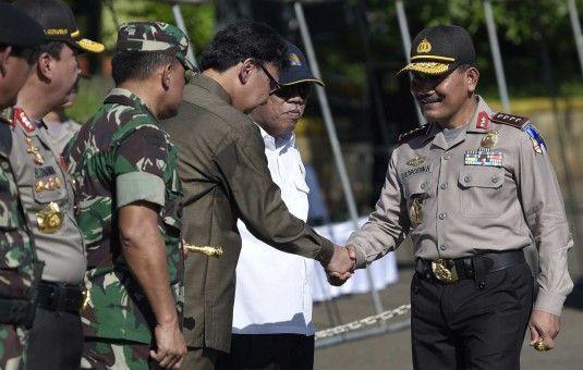 Jakarta - Kapolri Tito Karnavian bersama Menteri Dalam Negeri Tjahjo Kumolo, Panglima TNI Gatot...