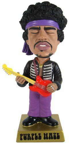 """Wacky Wobbler / Rock Legends Jimi Hendrix (Purple Haze Ver.) [Black Jacket Exclusive] by FUNKO. $35.00. Copyright (C) 2009, Jimi Hendrix All Rights Reserved.. For boys. Country: China main manufacturing. From 12 years Age:. Height of about 18 cm Size of main body:. The series """"Rock Legends"""" new head bobbing """"Wacky ? blur"""" Fanko's familiar, black jacket version guitarist """"Jimi Hendrix"""" genius lineup! In limited release products that are at the San Diego Comic C..."""
