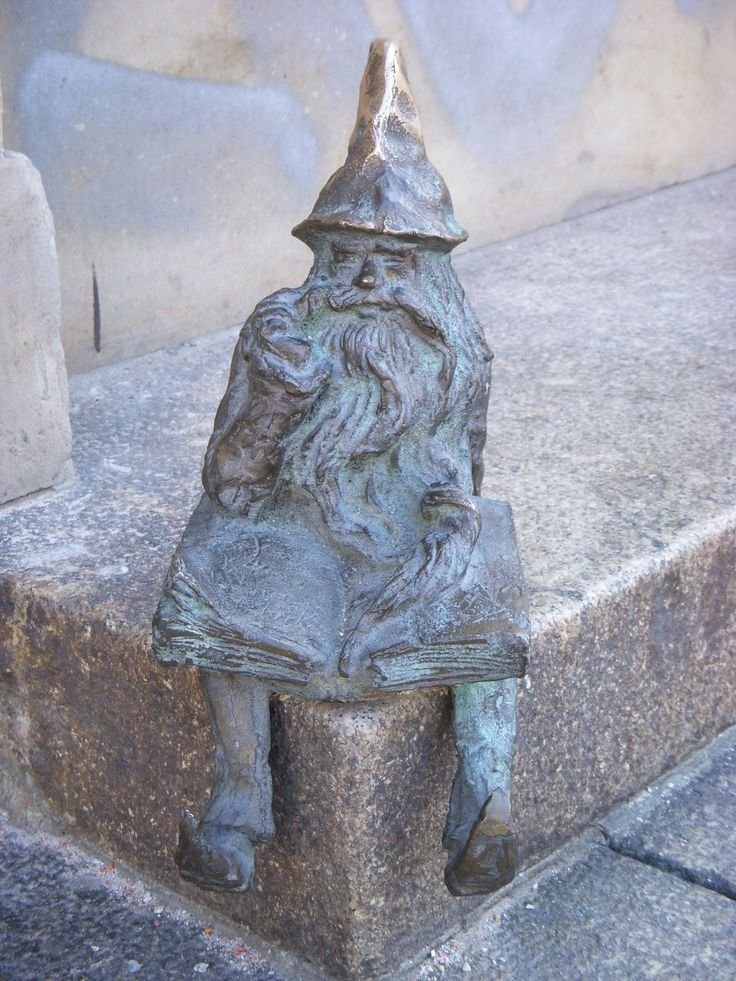 Gnome in Wroclaw, Poland - photo by Wes and Evie