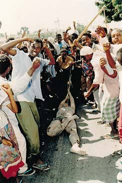 """Bin Laden formed Al-Qaeda in 1988, Bin Laden says that """"Arab holy warriors"""" trained in Afghanistan had banded with Somali Muslims in October 1993 to kill 18 U.S. soldiers in a bloody battle on the streets of Mogadishu Somalia."""