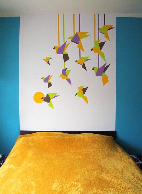 origami bedroom/sypialnia z motywem origami by artosfera, via Flickr