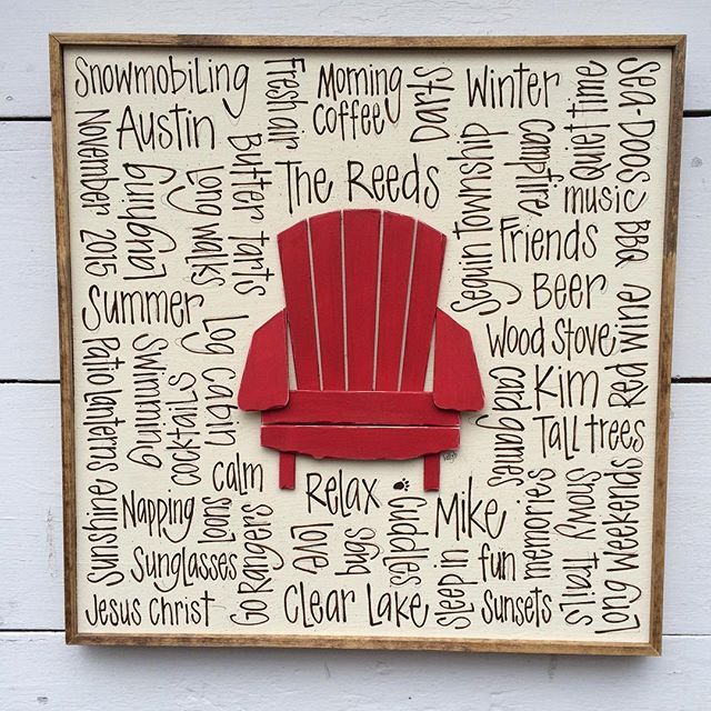 "New one!! 16"" sq crossword w Muskoka chair!! What colour would you choose?"