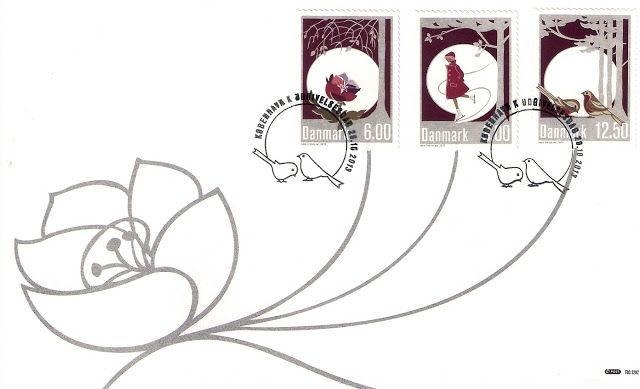 Greeting cards designed by Jette Frölich for Post Danmark