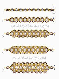 Dark Honey Bracelet---free-beading-pattern-necklace-tutorial-1-- from Beadsmagic