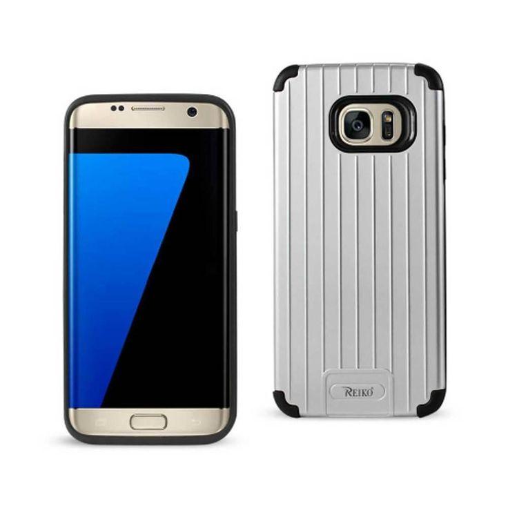 Reiko Samsung S7 Edge TPU+Protective Wallet Case Black Silver