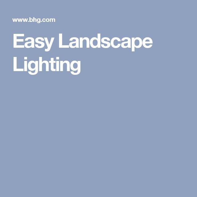 932 besten Landscape Lighting Bilder auf Pinterest