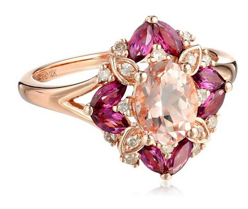 #PRESIDENTS' DAY UP TO 70% #OFF 10k Pink #Gold Morganite, #Rhodolite and #Diamond (1/10cttw, H-I Color, I2-I3 Clarity) Cushion #Ring  List Price: $790.00 Price: $255.97 & FREE Shipping. FREE Returns. Details You Save: $534.03 (68%)  https://www.facebook.com/Buyers.Digest