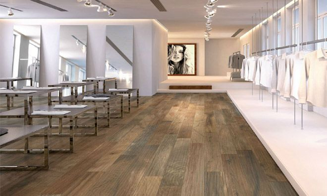 Carrelage imitation parquet bois ker wood brown salon for Carrelage imitation parquet