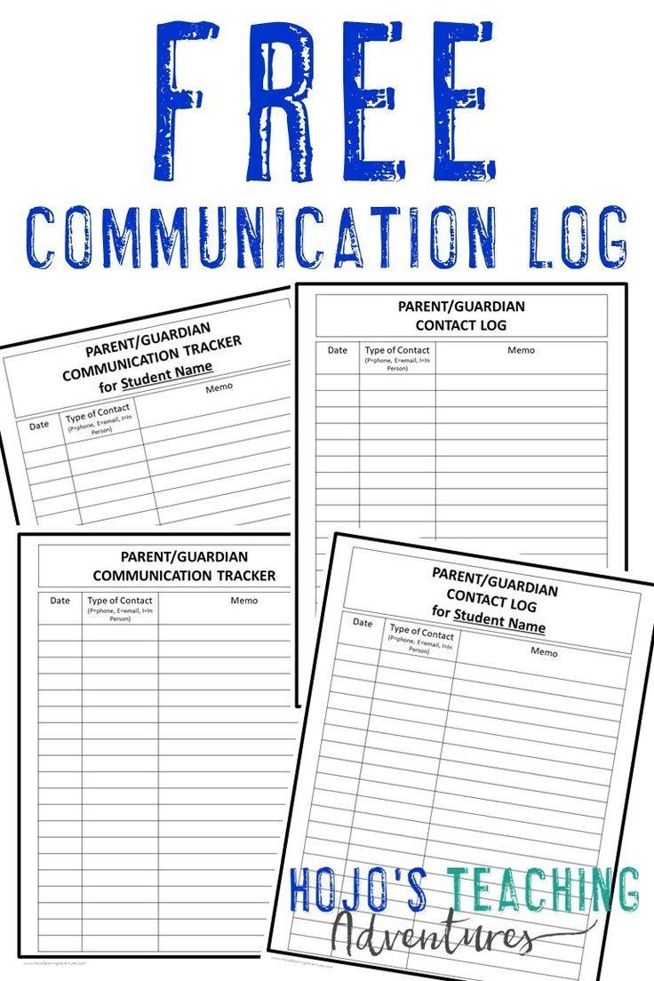 Parent And Family Communication Log Teacher Documentation