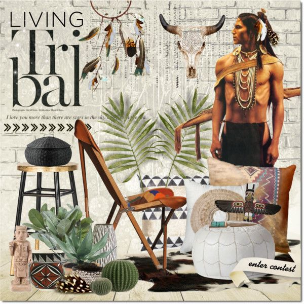 Living tribal >>> by justlovedesign on Polyvore featuring interior, interiors, interior design, home, home decor, interior decorating, Serena & Lily, Safavieh, Bandhini Homewear Design and Torre & Tagus
