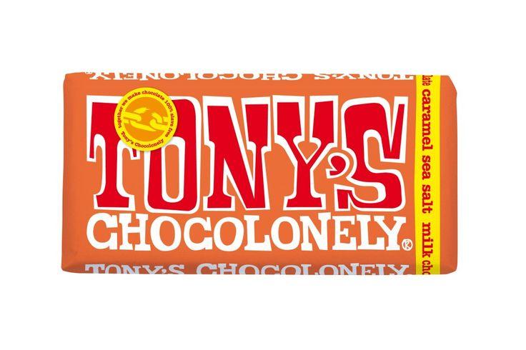 Bild på Tony's Chocolonely Milk Chocolate Caramel Sea Salt 180 g