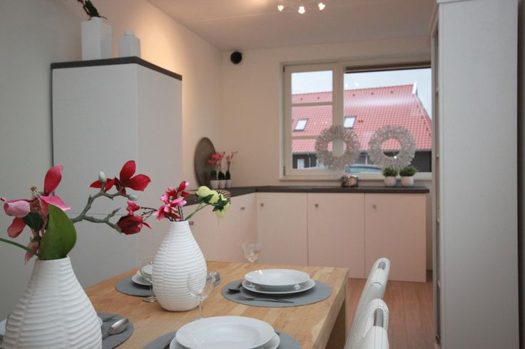 portfolio ingerichte keuken modelwoning met kartonnen keuken!