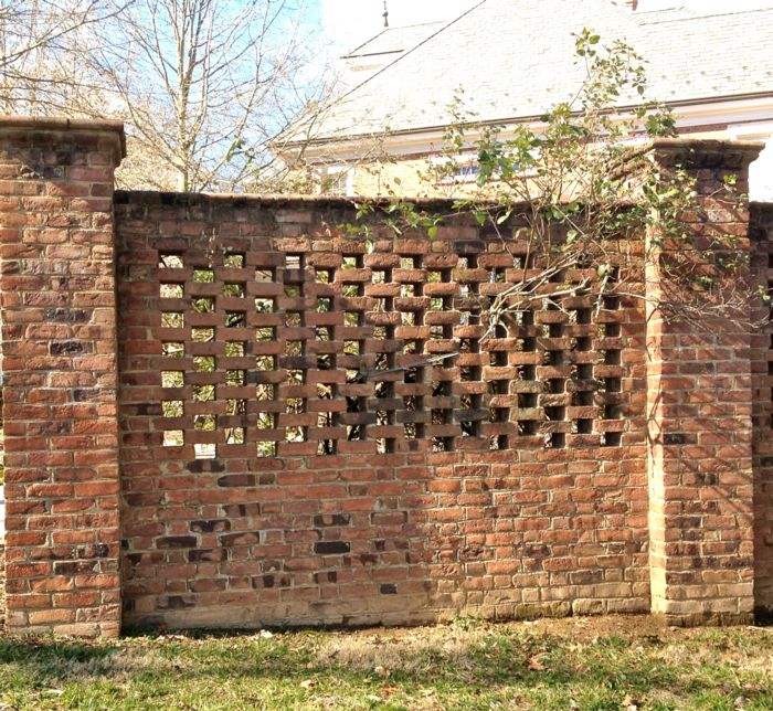 Fence Brick Wall Design : Best brick fence ideas on yard gates