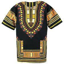 African Dashiki Shirt, Black