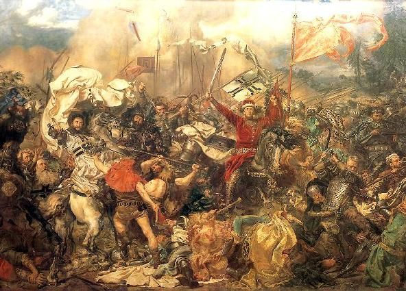 Battle of Grunwald - fragment of famous painting by Jan Matejko