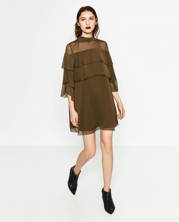 Image 1 of SHORT FRILLED DRESS from Zara