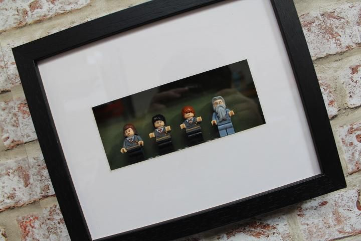 Harry Potter Minifigure Frame 4 Characters Custom Harry Potter Mini Figures Frame