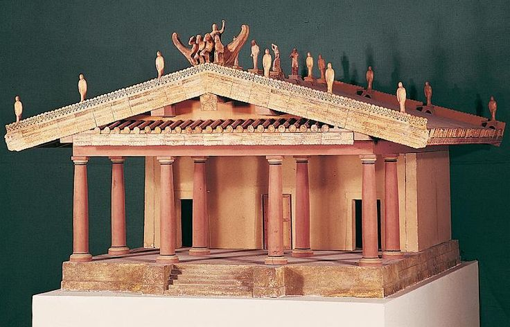 Etruscan Temple - absorbed Greek influences - Roman temple ...