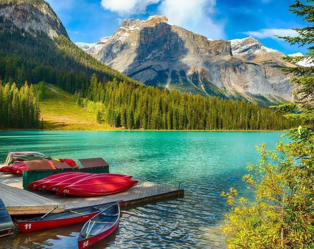 Perché viaggiare in Canada nel 2017?  Il paese celebra 150 anni dindipendenza il primo luglio e per loccasione lingresso nei meravigliosi parchi nazionali sarà gratuito tutto l'anno. Intanto abbiamo appena salutato (con dispiacere) il bel primo ministro #JustinTrudeau in visita in Italia  #MCMood #Canada #EmeraldLake #YohoNationalPark #BritishColumbia (foto: @gettyimages )  via MARIE CLAIRE ITALIA MAGAZINE OFFICIAL INSTAGRAM - Celebrity  Fashion  Haute Couture  Advertising  Culture  Beauty…