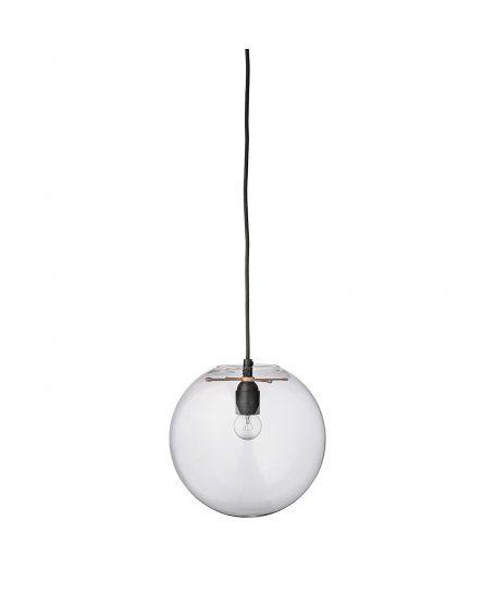 Szklana lampa wisząca w kształcie kuli - Bloomingville