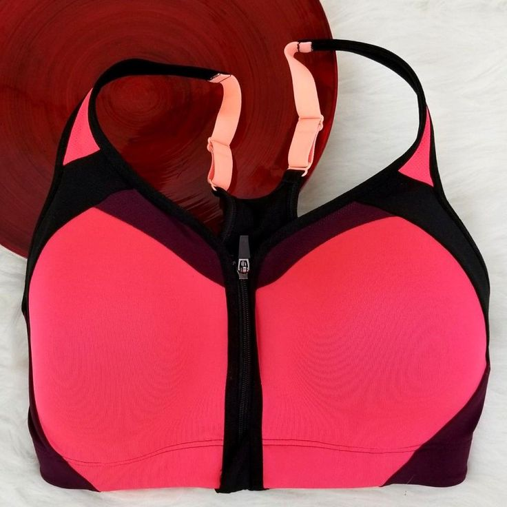 Champion Womens C9 Sports Bra Size 34DD Front Zip