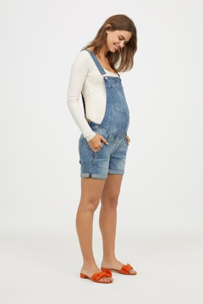 14c6d3023bdb2 MAMA Denim dungaree shorts   #momlife   Pinterest   Dungarees shorts ...