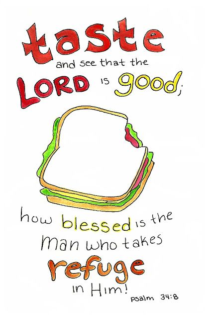 Doodle Through The Bible Psalm 34 8 Free printable