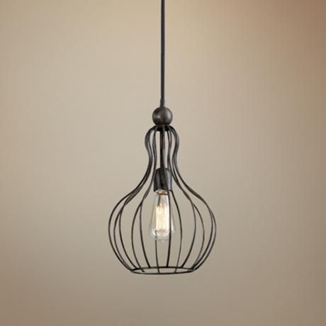 Bourret One Light Cage Pendant by Uttermost Lighting