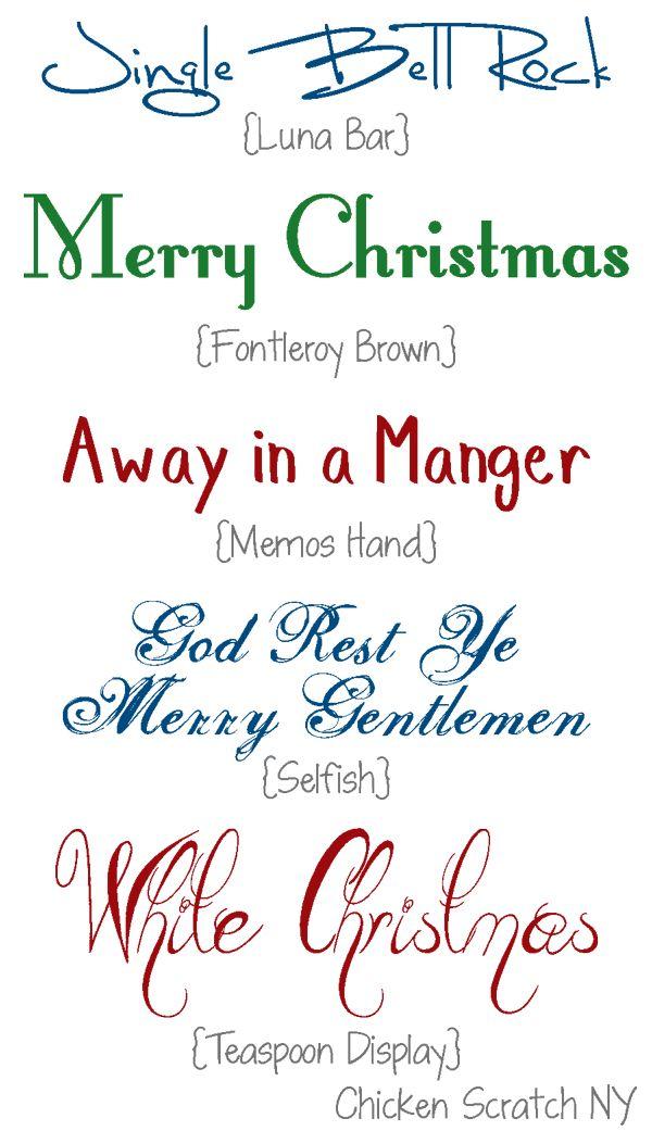 December Holiday Fonts 3  CSNY