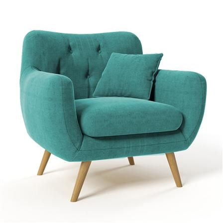 Achica Renne Armchair Turquoise In 2019 Armchair