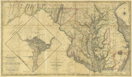 HUGE-1794-MD-MAP-Landover-Marlboro-Green-Haven-Valley-Halfway-Genealogy-SURNAME