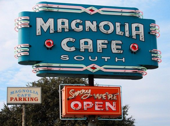 "Magnolia Cafe, Austin TX famous for their gingerbread pancakes and enormous ""Magnolia Mud"" dip. So delicious! I go there every year I fly in!"