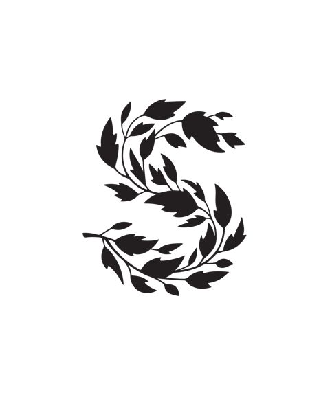 S logo-- just in time for fall! (Though, it still feels like summer where I live)