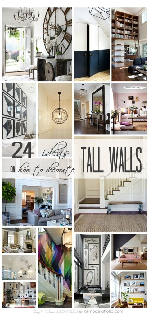 "24 Ways to Decorate Tall Walls | Those large, high walls can be so beautiful, but decorating them to look ""right"" can be tricky. Use these ideas to make it work in your home."