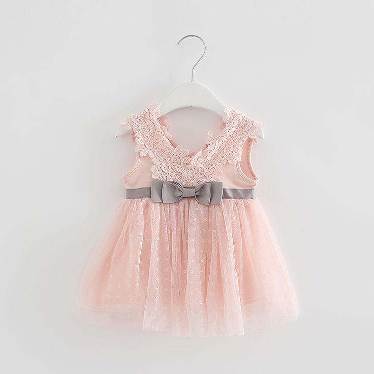 Лето baby girl dress младенческой мило хлопкового кружева лук принцесса dress для партии и свадьба ребенок крещение dress 1 год рождения dressкупить в магазине Shelly&SallyнаAliExpress