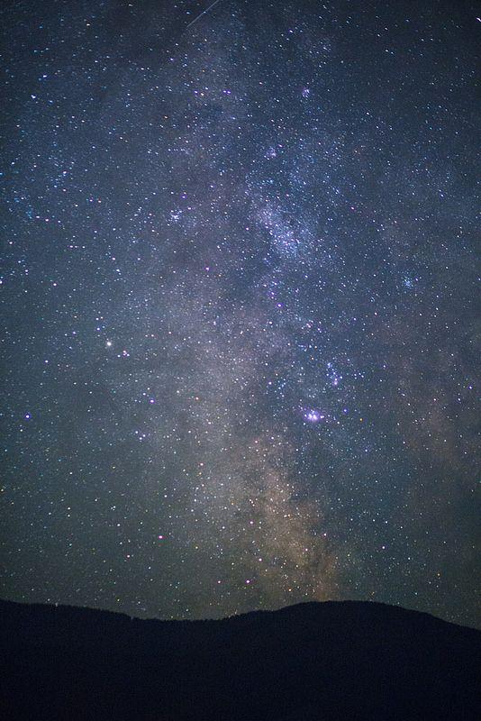 My God, It's Full of Stars The Milky Way and a sky full of stars rise over the hills above Fossli Park in the Alberni Valley. #HeartOfVancouverIsland #PortAlberni #AlberniValley #FossliPark #Starrise #ExploreBC #WeGoCanada #Canada #VancouverIsland