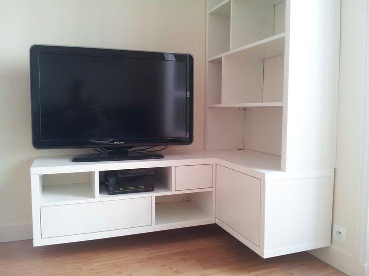 1000 ideas about meuble tv hifi on pinterest tv pas cher tv storage and m - Meuble rangement vinyl ...