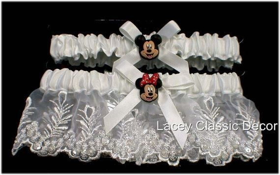 DISNEY Mickey Minnie Mouse Wedding Garter Arm band lot small to x-large adjustable on Etsy, $26.00