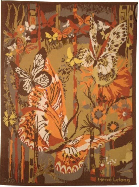 Hand Stitched Tapestry By Herve Lelong