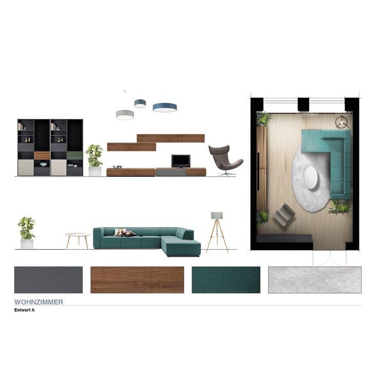 farbvarianten wohnzimmer 2 d ansichten innenarchitektur