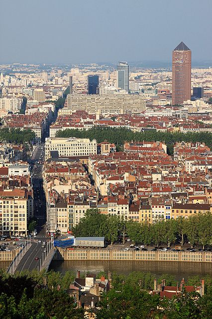 View From Fourviere Hill in Lyon, France
